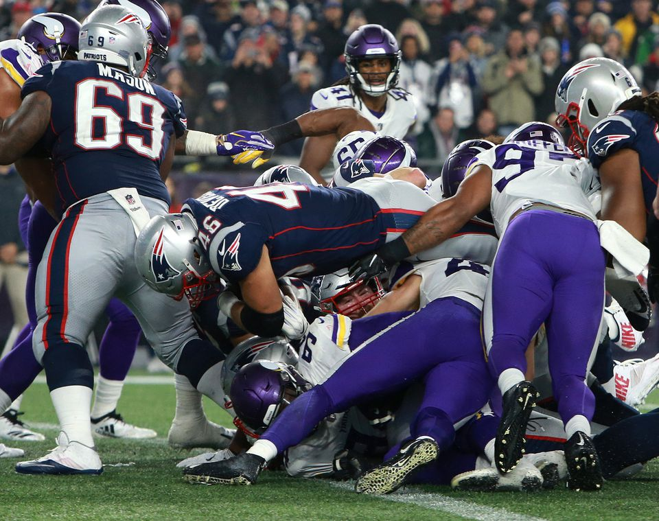 James Develin plunged in for a touchdown in the fourth quarter.