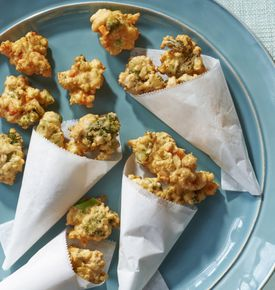 Use fresh or frozen vegetables to make fritters.