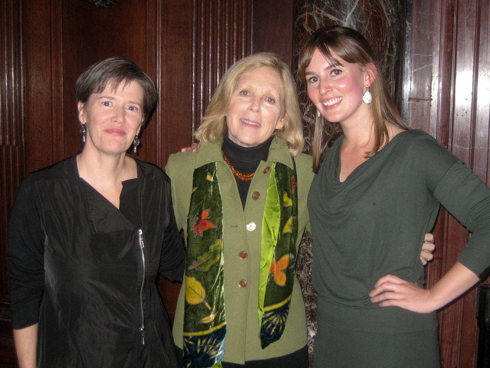 From left: 2012-13 writer-in-residence Hollis Shore, Associates of BPL's Vivian K. Spiro, Annie Hartnett.
