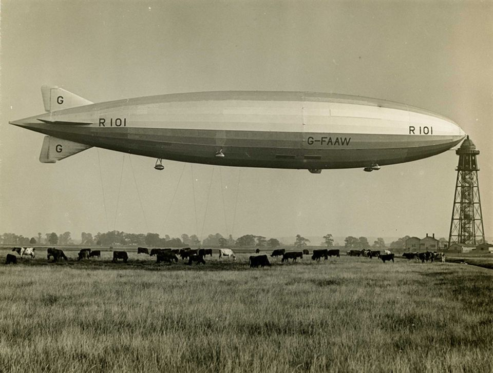 """The ill-fated dirigible R101 inspired the song """"Empire of the Clouds"""" by Iron Maiden"""