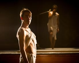 """""""Antigone Sr."""" is an all-male dance/theater version of Sophocles's tragic drama.<i/>"""