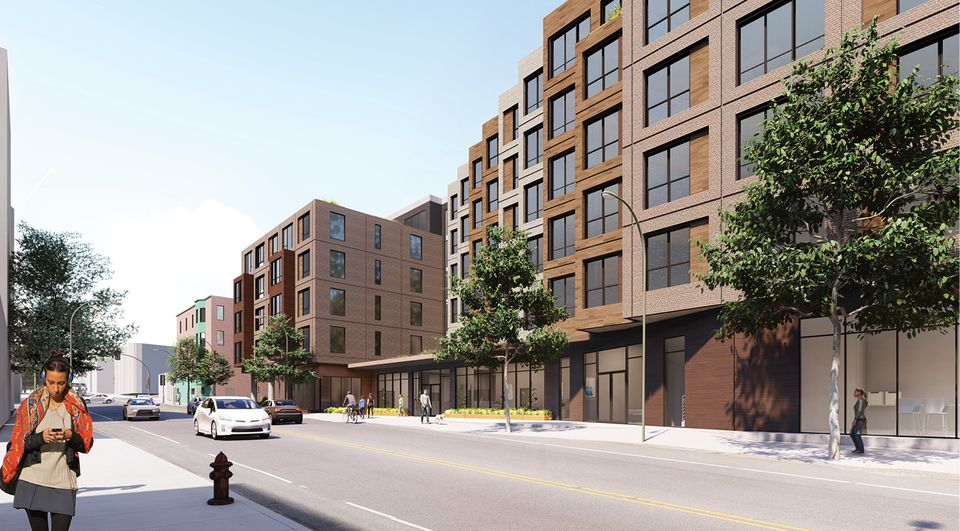 The Pine Street Inn is proposing a 225-unit supportive and affordable housing complex on Washington Street.