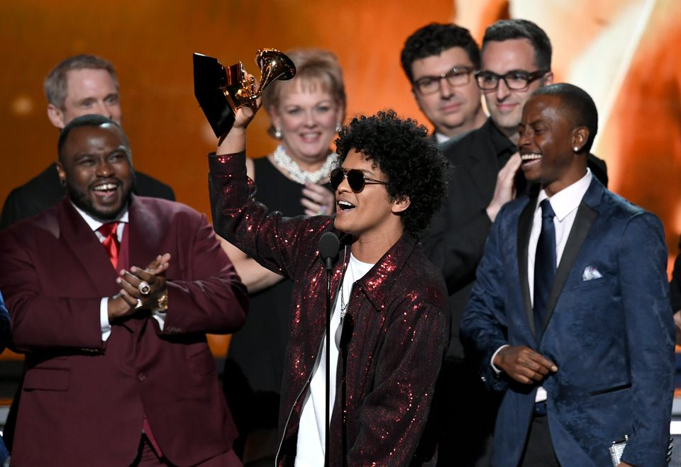 Bruno Mars accepted the Grammy for album of the year.