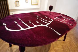 "Julia Csekö's ""Tripas de aço (Guts of Steel)"" from ""The Uncanny Home of Our Imagination"" at Nave Annex."