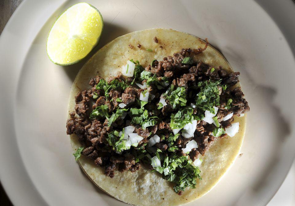 Steak tacos and more are available at Taqueria El Amigo.