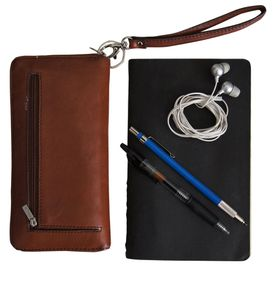 Lug as little as you can; wallet, notebook, earbuds.