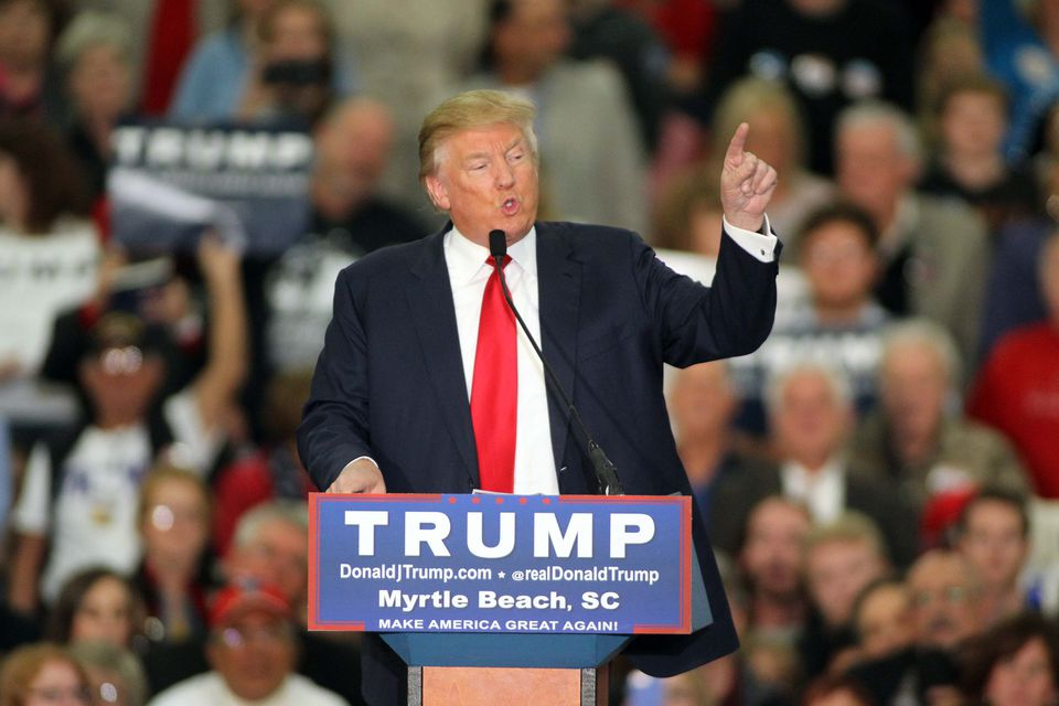 Republican presidential candidate Donald Trump berated Times investigative reporter Serge Kovaleski at a campaign event in South Carolina on Tuesday.
