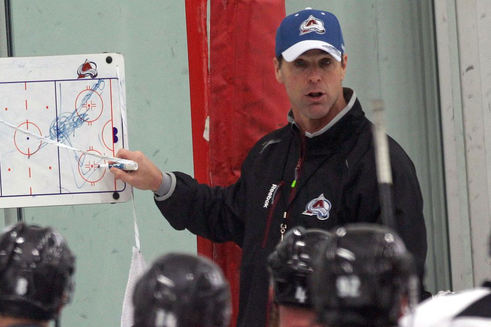 David Quinn has served as an assistant coach for the NHL's Colorado Avalanche this year.