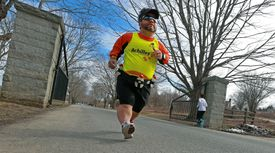 Though running can be a physical challenge, John Young, 47, has competed in more than 20 triathlons.