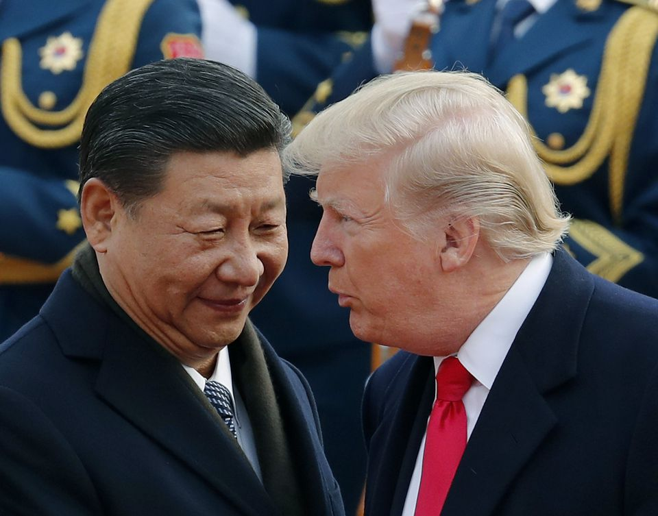 President Trump with Chinese President Xi Jinping during a welcome ceremony at the Great Hall of the People in Beijing, in November.