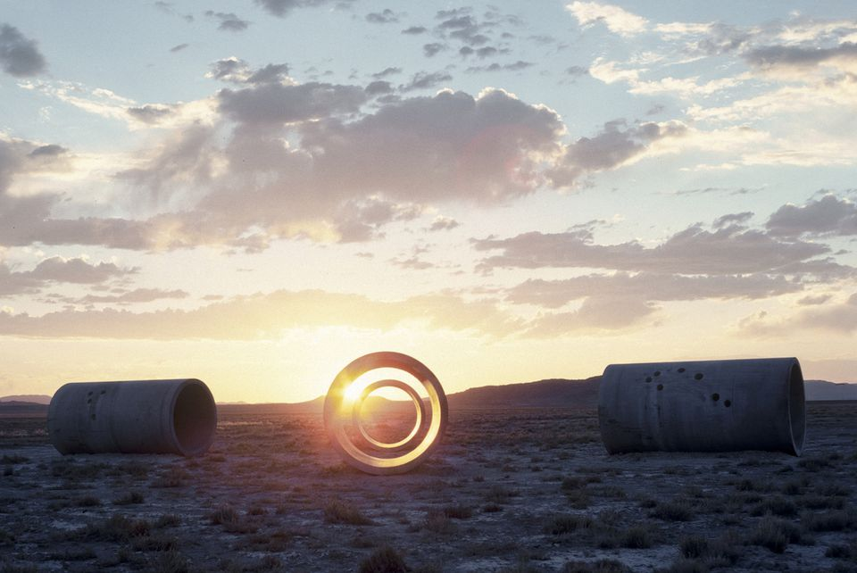 """A detail view of """"Sun Tunnels,'' which Nancy Holt and a crew of collaborators installed in Great Basin Desert, Utah, in the mid-1970s."""