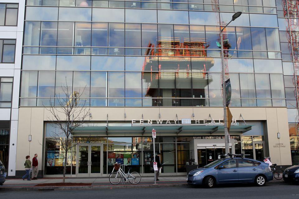 The exterior of Fenway Community Health Center, whose chief executive resigned Sunday.