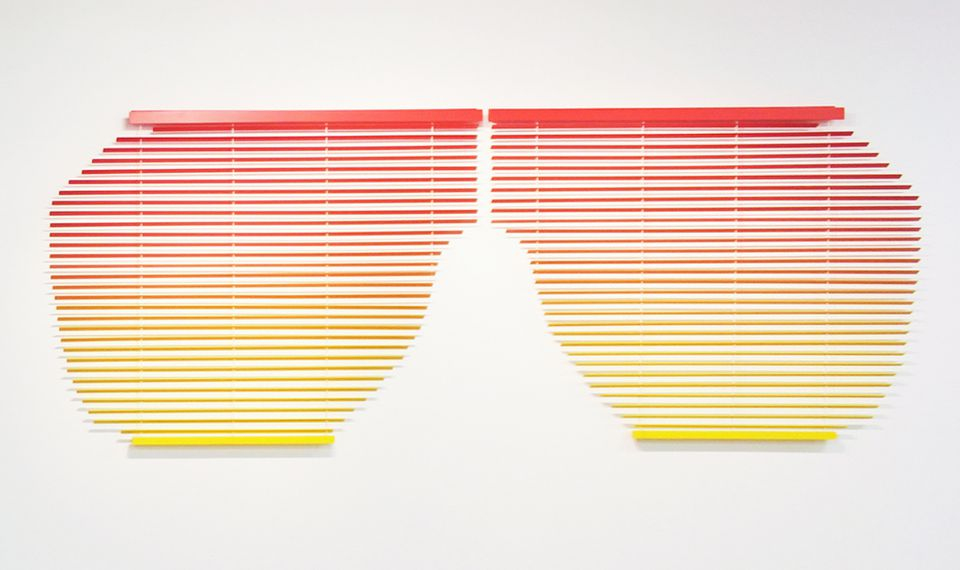 "Adam Parker Smith's ""Untitled (Kanye Shutter Shades)."""
