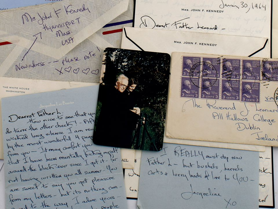 Jacqueline Kennedy shared a secret correspondence over nearly 15 years with Father Joseph Leonard, an Irish priest.