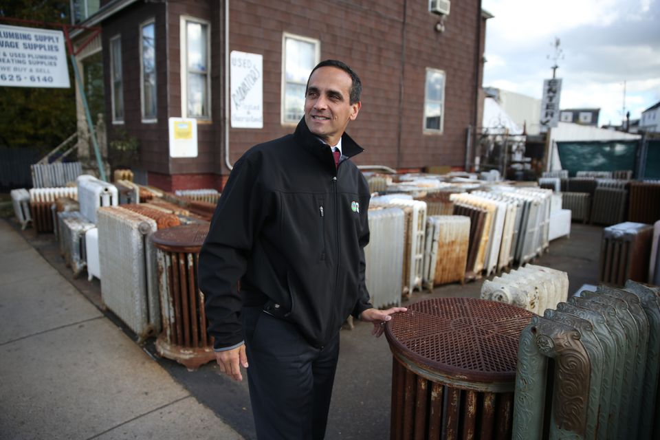 Somerville Mayor Joseph Curtatone sees economic potential in the area around the new MBTA station in Union Square.