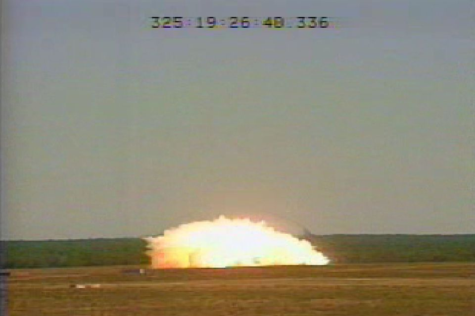 The MOAB bomb was tested at Eglin Air Force Base, Fla., in 2003.