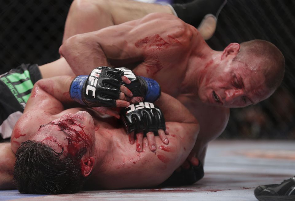 Mixed martial arts is regulated like boxing. Here, Karl Noons loses an MMA match in Las Vegas.