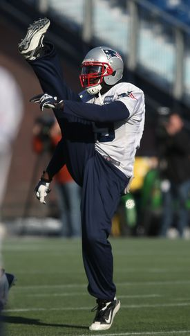 Patriots running back LeGarrette Blount takes defenders head on, but sometimes he displays his athletic moves.