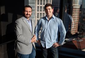 LeanBox cofounders Shea Coakley (left) and Peter Roy.