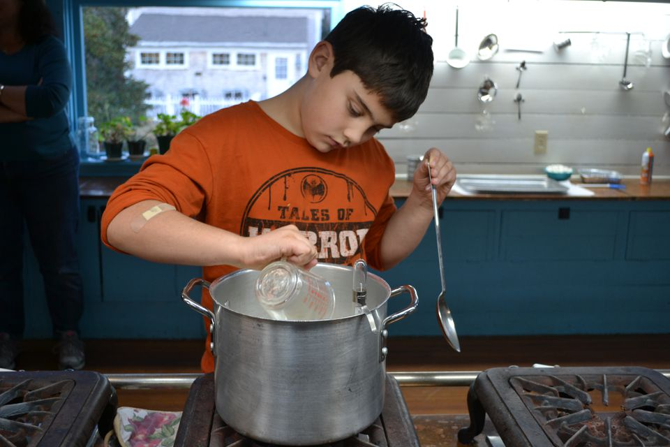 Candy making at Green Briar Nature Center and Jam Kitchen.