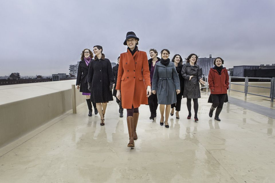 The Boston-based Lorelei Ensemble is an all-female vocal group.