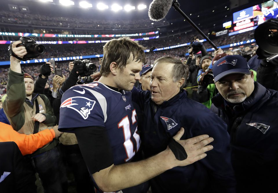 Tom Brady and Bill Belichick are in their ninth Super Bowl together — no other player or coach has six.