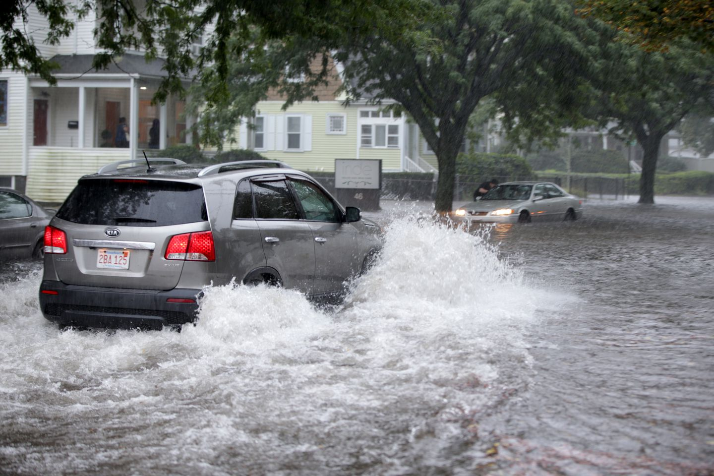 Heavy rain on Independence Avenue in Quincy caused flooding and havoc for some drivers.