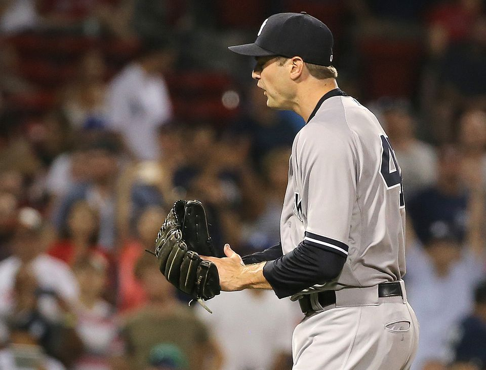 Andrew Miller had 36 saves for the Yankees last season.