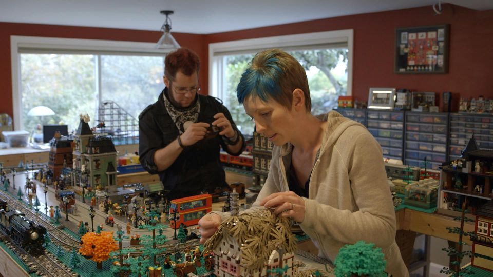 """Dave and Stacy Sterling at work in """"A LEGO Brickumentary."""""""
