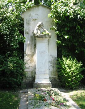 Johannes Brahms's tombstone in Vienna Central Cemetery.