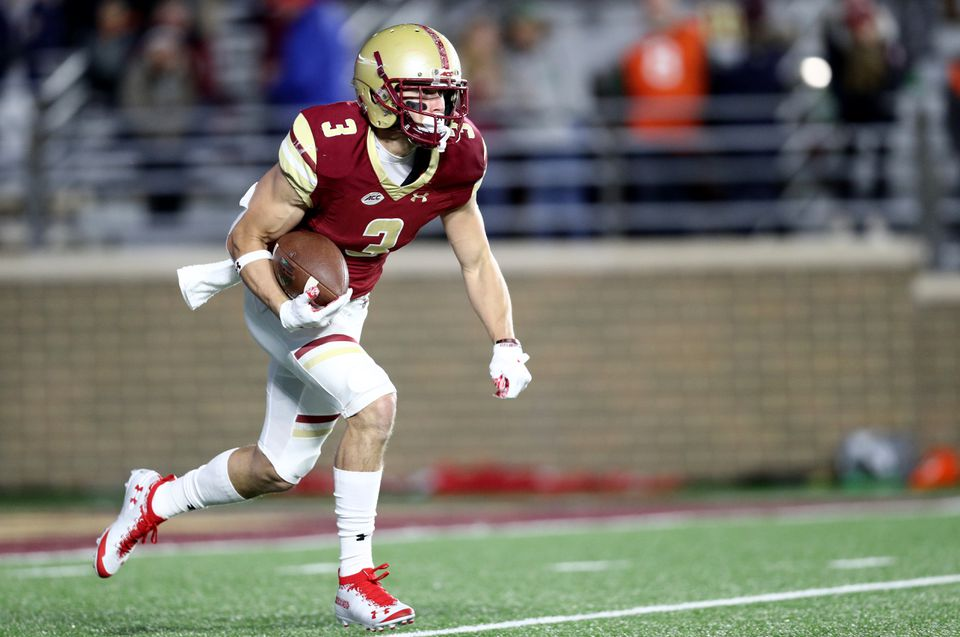 Boston College senior receiver/return specialist Michael Walker (3) was joined by junior defensive back Hamp Cheevers as second-team selections on the Walter Camp All-America team.
