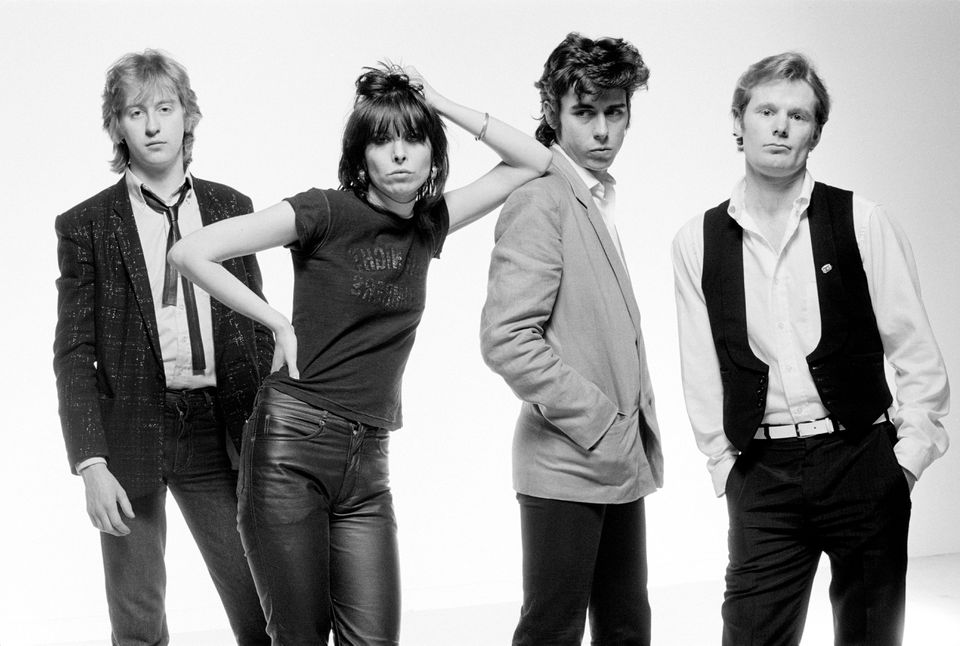The Pretenders — (from left) James Honeyman-Scott, Chrissie Hynde, Pete Farndon, and Martin Chambers — in January 1979.