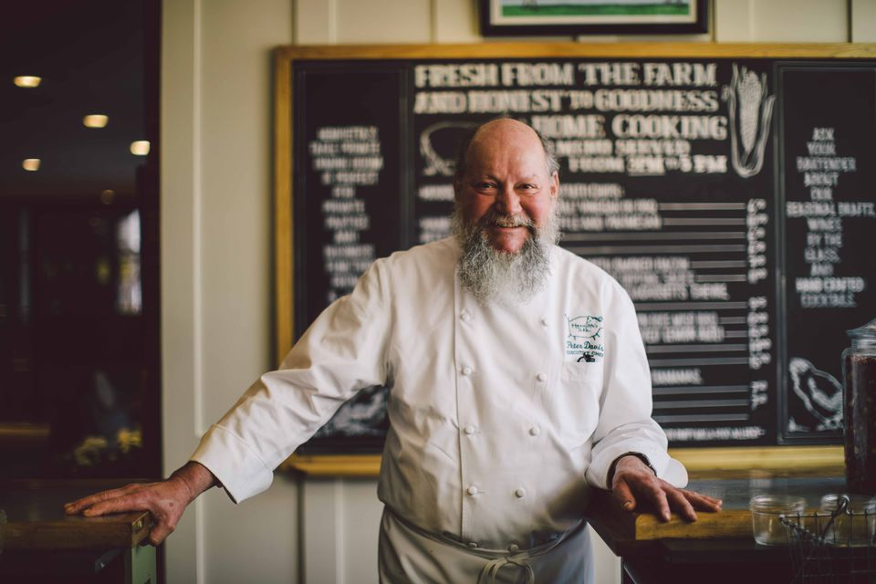 Chef Peter Davis at Henrietta's Table in the Charles Hotel.