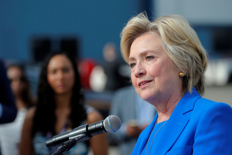 Hillary Clinton held a news conference in White Plains, N.Y.