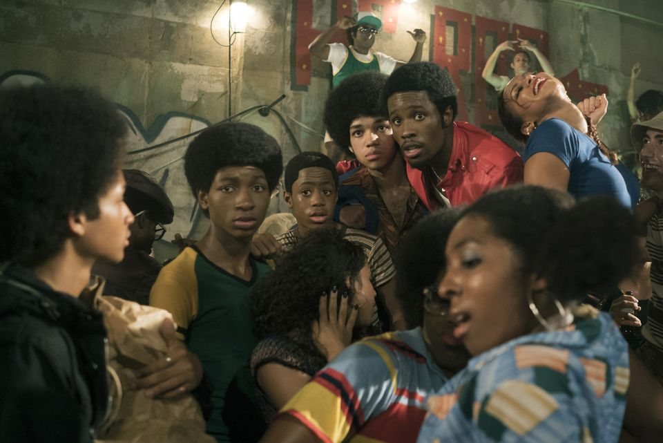 """From left: Jaden Smith, Tremaine Brown Jr., Skylan Brooks, Justice Smith, and Shameik Moore in """"The Get Down."""""""
