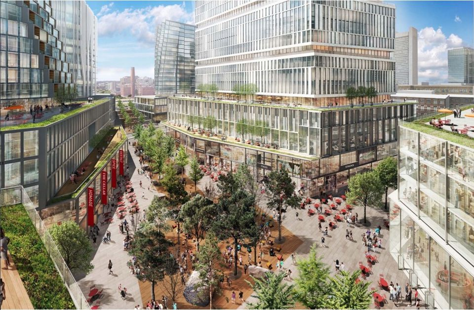 WS Development's Seaport Square project includes housing and office and retail space on 12.5 acres of parking lots.