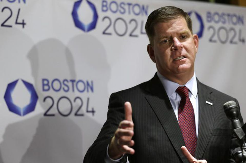 Mayor Walsh addressed an audience during an event held to generate public interest in a 2024 Olympicsbid for the city of Boston in October.