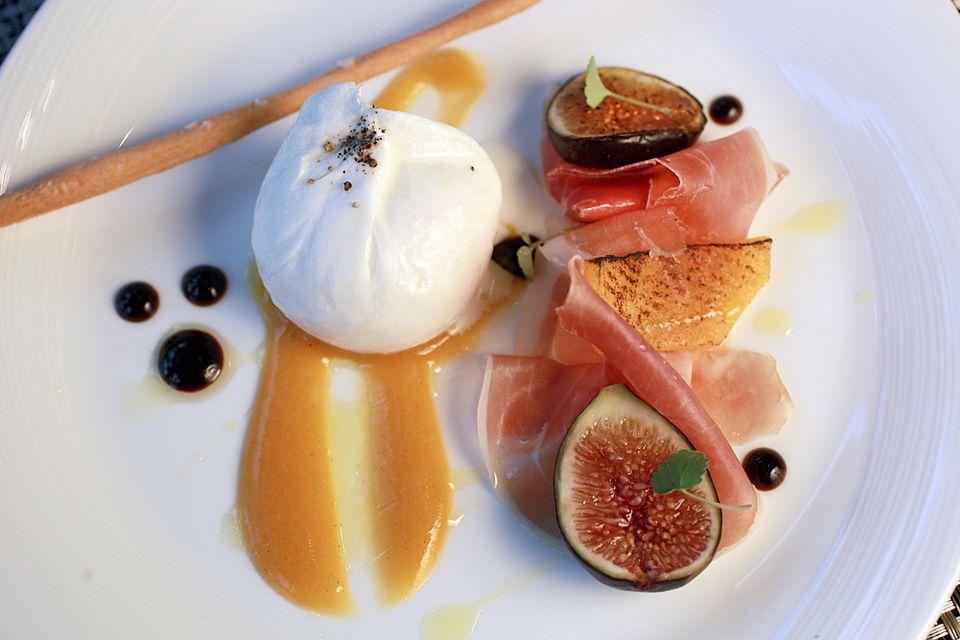 The burrata, which features mozzarella and speck, at Sorellina.