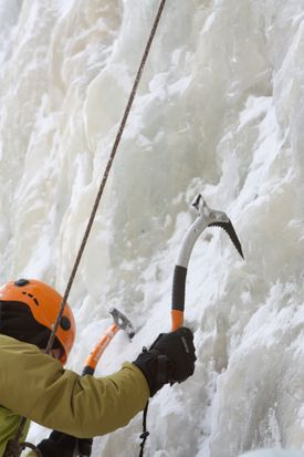 Secure ice tool placements are essential for safe and successful ice climbing.