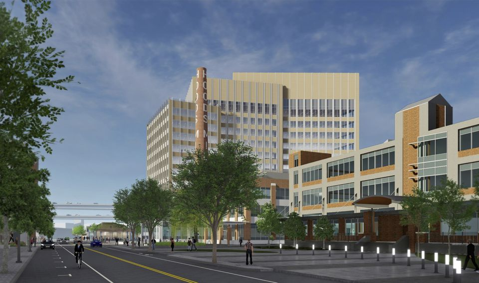 An artist's endering of a proposed office building on Stack Street in Charlestown, on the former Hood site.
