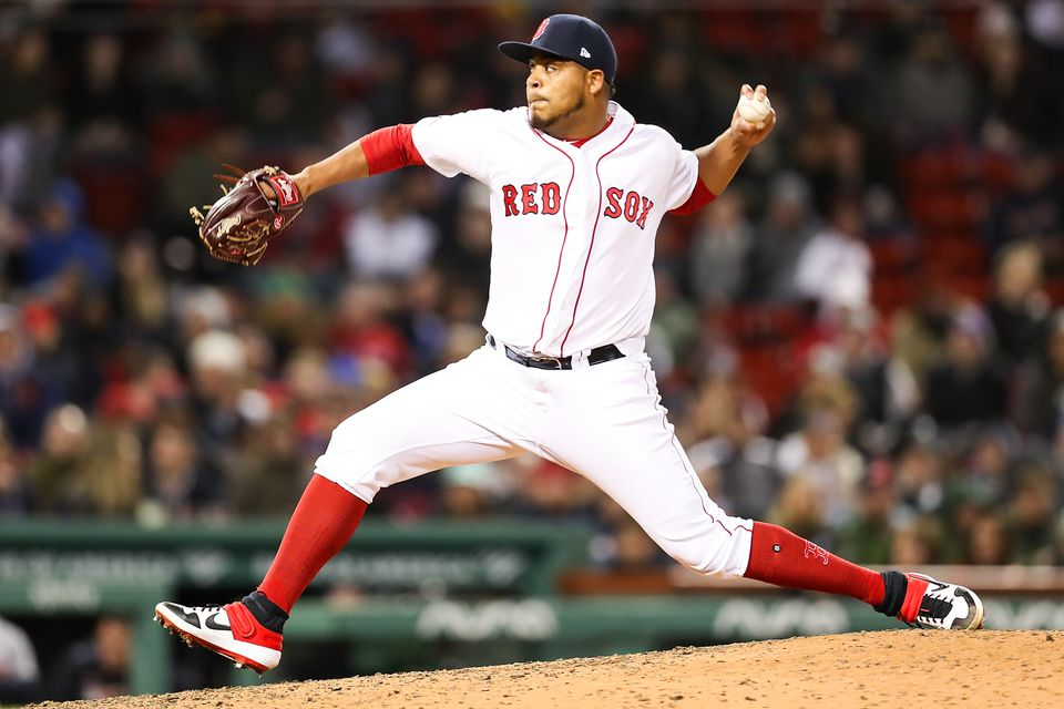 Darwinzon Hernandez played 97 games in the minors before his MLB debut Tuesday.