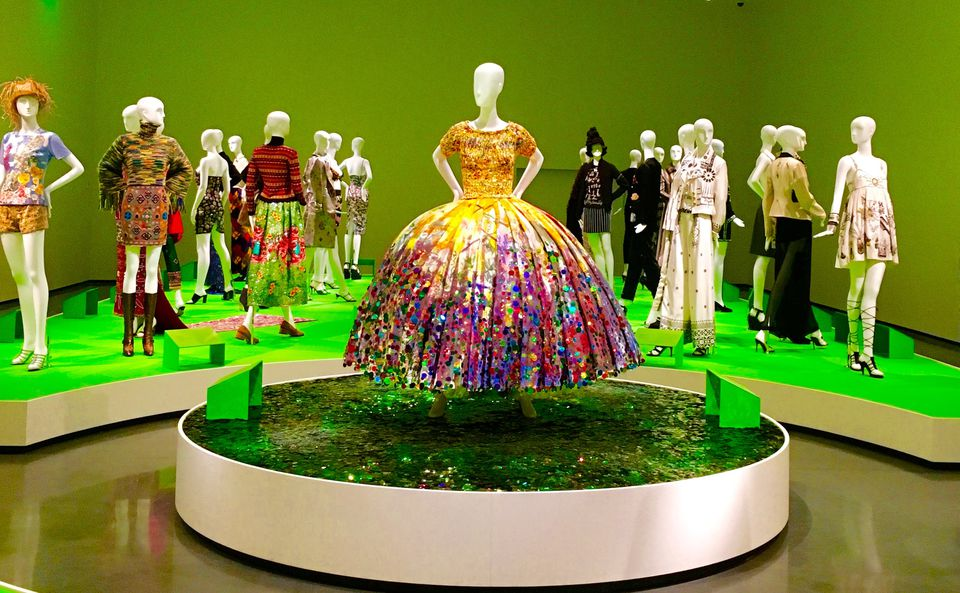 """""""All of Everything: Todd Oldham Fashion"""" display at the RISD Museum."""