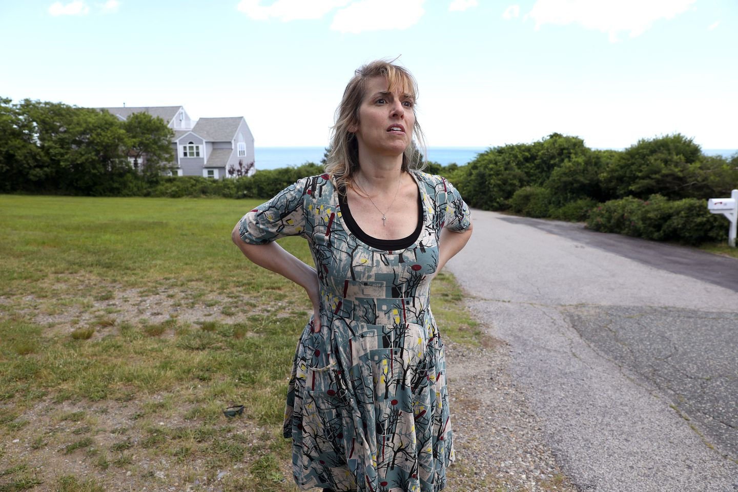 Kathy Lavrentios describes how she says she was attacked by two dogs on Ames Avenue in 2015.