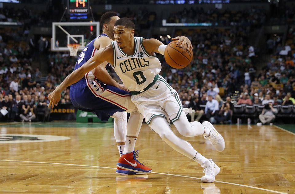 Celtics forward Jayson Tatum is excited for his first NBA season to start.