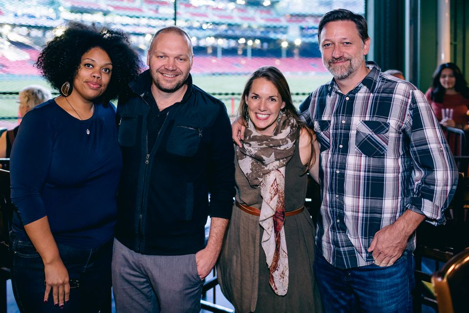 From left: artist and poet DiDi Delgado, Illuminus director of programming Ethan Vogt, artist Maria Finkelmeier, and Illuminus founder and executive director Jeff Grantz.