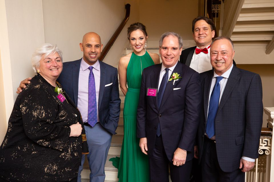From left: Regina Pisa, Alex Cora, Laura Osnes, John Power, Keith Lockhart, and Jerry Remy.