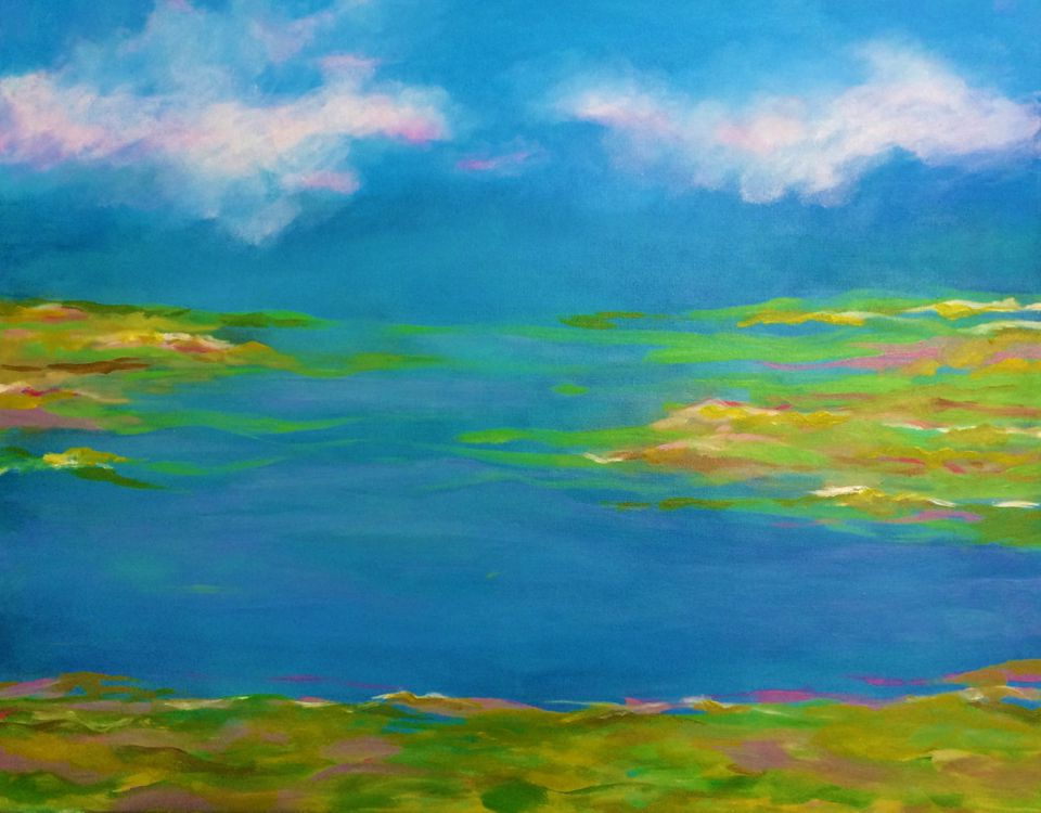 """""""Spring Marsh"""" by Constance Festo Lafond is part of the exhibit at the Beebe Estate Gallery in Melrose."""