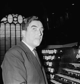 French organist and composer Maurice Duruflé in1956.