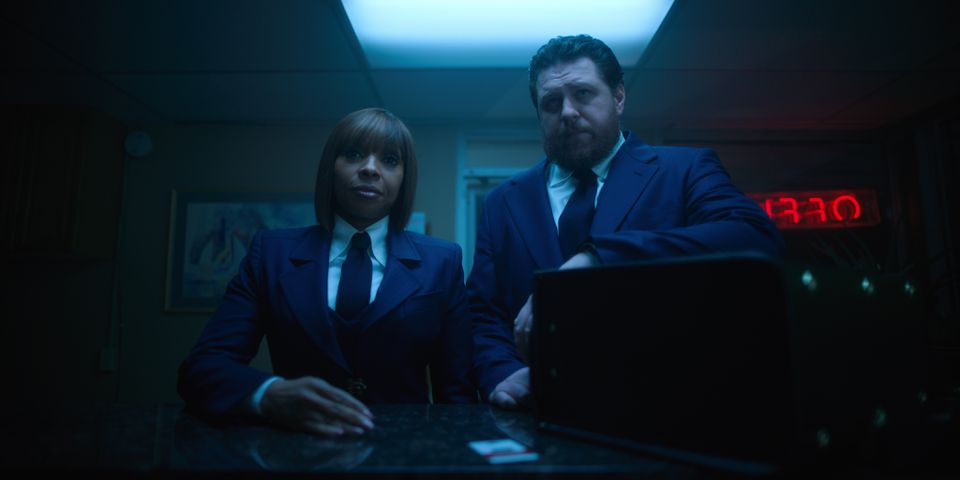 """Mary J. Blige and Cameron Britton in the Netflix series """"The Umbrella Academy."""""""