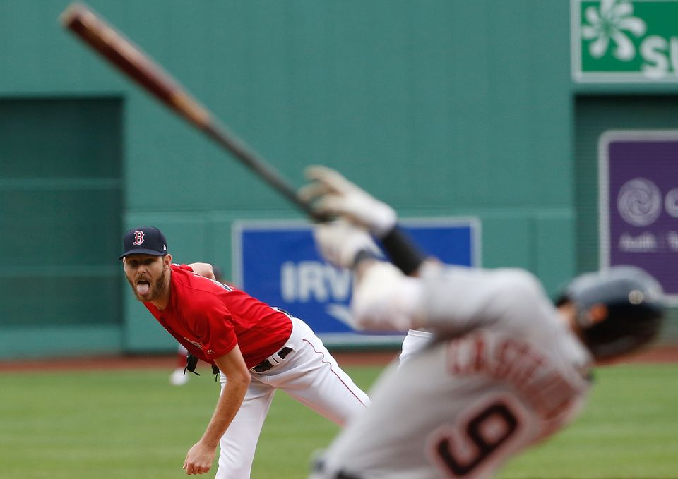 Chris Sale had his share of jaw-dropping moments Tuesday, but still failed to get his first win of the season.
